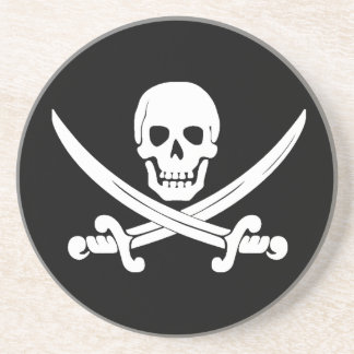 Jolly Roger Skull And Crossbones Pirate Gifts Coaster