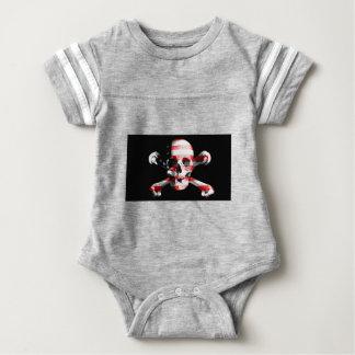 Jolly Roger Skull Crossbones Skull And Crossbones Baby Bodysuit