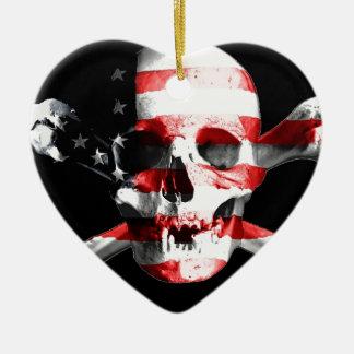Jolly Roger Skull Crossbones Skull And Crossbones Ceramic Ornament