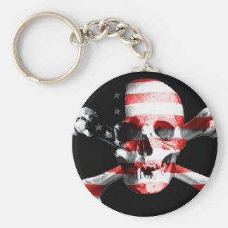 Jolly Roger Skull Crossbones Skull And Crossbones Keychain