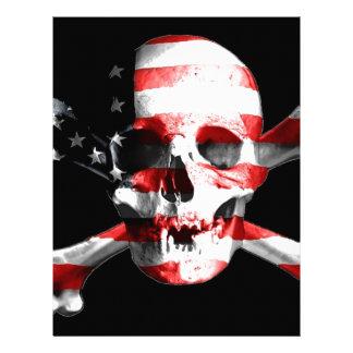 Jolly Roger Skull Crossbones Skull And Crossbones Letterhead