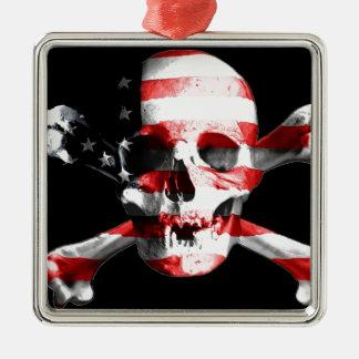 Jolly Roger Skull Crossbones Skull And Crossbones Metal Ornament