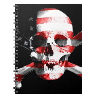 Jolly Roger Skull Crossbones Skull And Crossbones Notebook