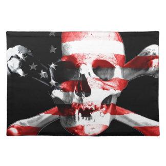 Jolly Roger Skull Crossbones Skull And Crossbones Placemat
