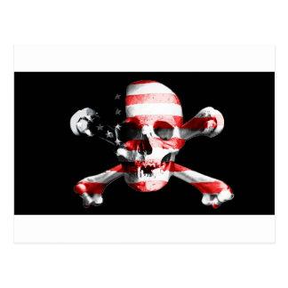 Jolly Roger Skull Crossbones Skull And Crossbones Postcard