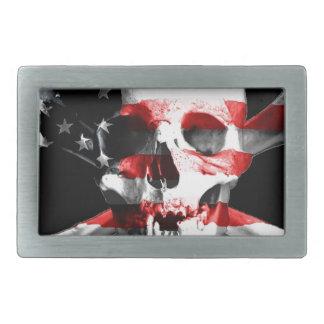 Jolly Roger Skull Crossbones Skull And Crossbones Rectangular Belt Buckle
