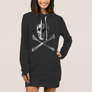 Jolly Roger Skull Hoodie Dress