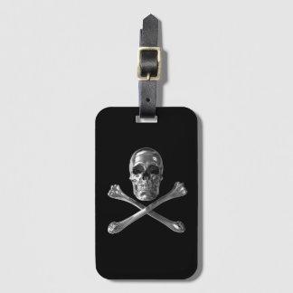 Jolly Roger Skull Luggage Tag