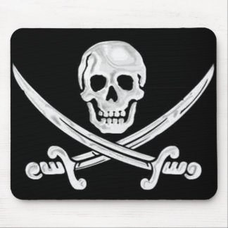 Jolly Roger Skull Mouse Pad