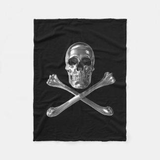 Jolly Roger Skull Small Fleece Blanket