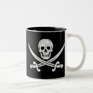 Jolly Roger Skull Two-Tone Coffee Mug