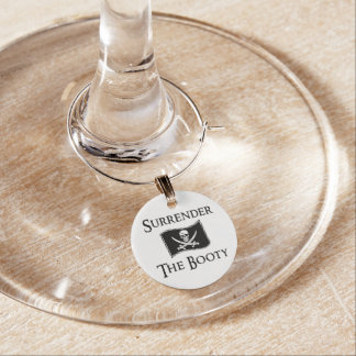 Jolly Roger - Surrender the Booty Wine Glass Charms