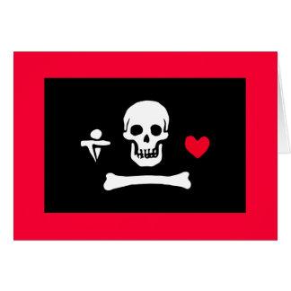 Jolly Roger Valentine Card