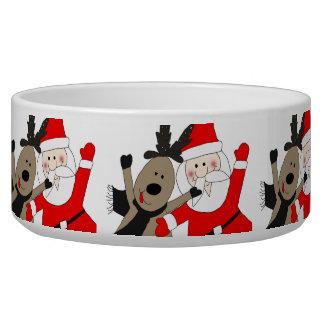 Jolly Santa and Reindeer #1