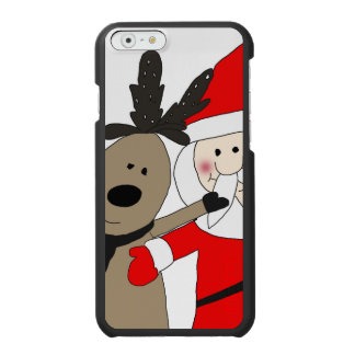 Jolly Santa and Reindeer #1 Incipio Watson™ iPhone 6 Wallet Case