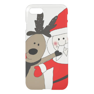 Jolly Santa and Reindeer #1 iPhone 8/7 Case