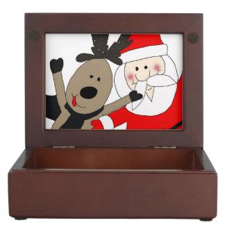 Jolly Santa and Reindeer #1 Memory Box