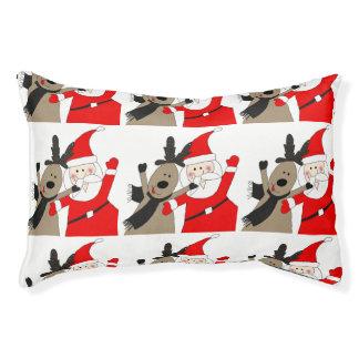Jolly Santa and Reindeer #1 Pet Bed