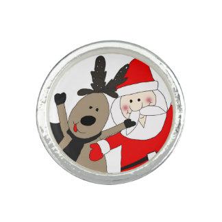 Jolly Santa and Reindeer #1 Rings