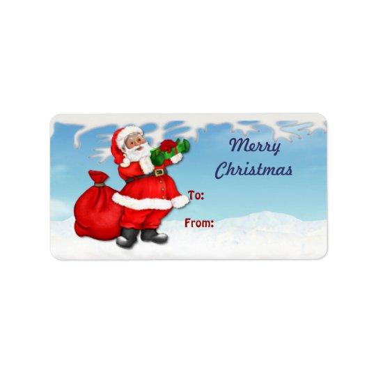 Jolly Santa Claus Christmas Gift Tags