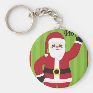 Jolly Santa Claus Keychain