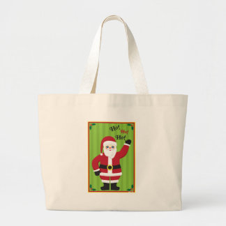 Jolly Santa Claus Large Tote Bag