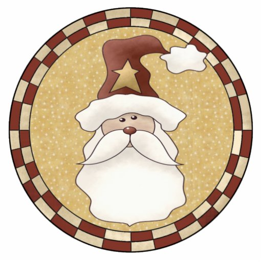 Jolly Santa Claus Ornament Acrylic Cut Outs