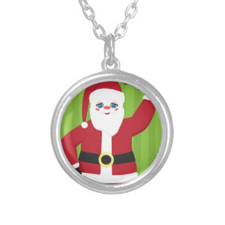 Jolly Santa Claus Silver Plated Necklace