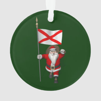 Jolly Santa Claus Visiting Alabama Ornament