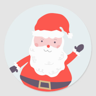 Jolly Santa Clause Classic Round Sticker