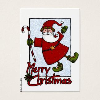 jolly santa gift tag
