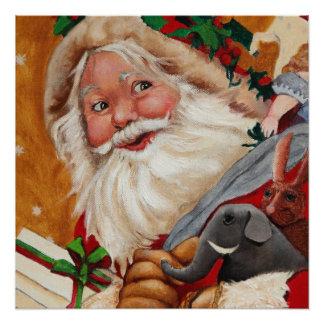 Jolly Santa Perfect Poster