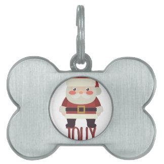 Jolly Santa Pet ID Tag