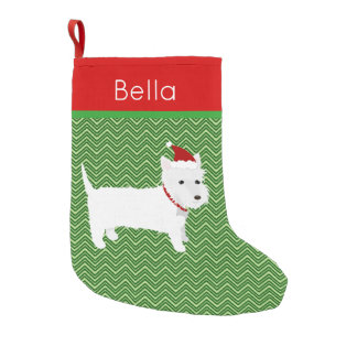 Jolly Santa West Highland Terrier Small Christmas Stocking