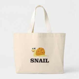 jolly snail large tote bag
