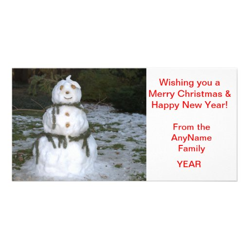 Jolly Snow Lady Holiday Photo Card - CUSTOMIZE IT Picture Card