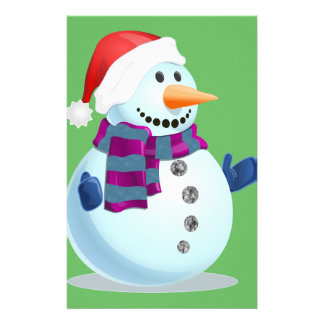 Jolly Snowman Customized Stationery