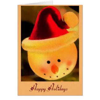 Jolly Snowman Head Greeting Card