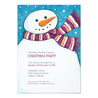 Jolly Snowman | Kids Christmas Party Invitation