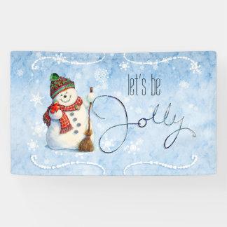 Jolly Snowman LBJa Banner