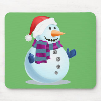 Jolly Snowman Mouse Pad