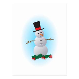 Jolly Snowman Postcard