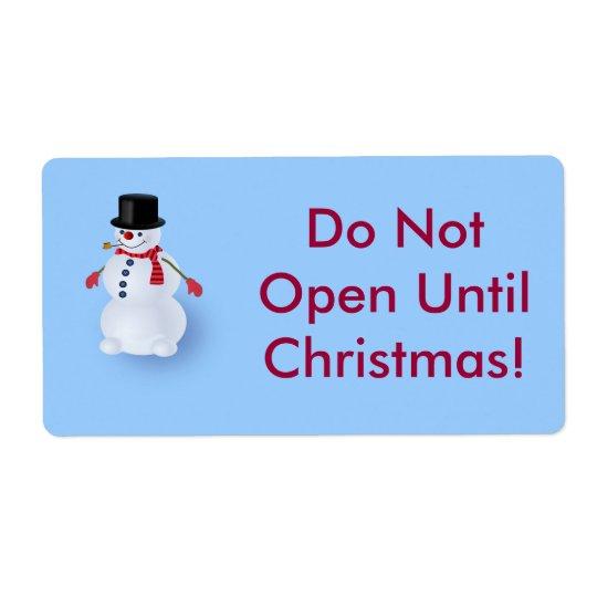 Jolly Snowman Shipping Label