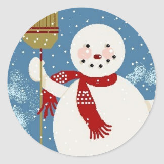 Jolly Snowman Sticker