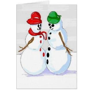 Jolly Snowman Thinking of You Greeting Card