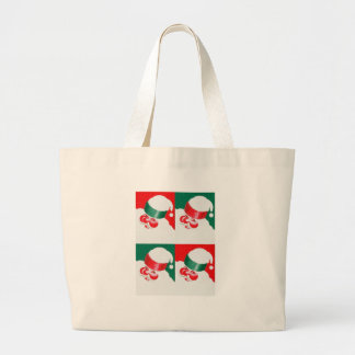 Jolly St Nick - Quad Large Tote Bag
