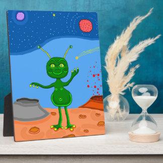 Jolly the Cute Alien Plaque