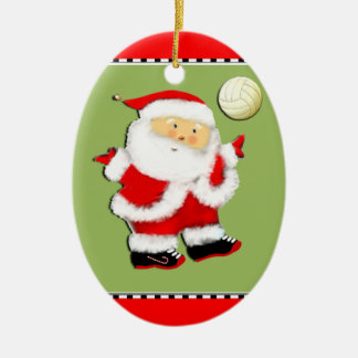 Jolly Volleyball Collectible Ceramic Ornament
