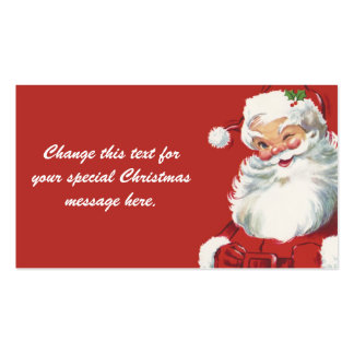 Jolly Winking Santa Claus, Vintage Christmas Pack Of Standard Business Cards
