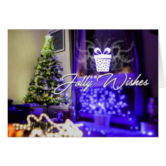 Jolly Wishes Christmas Greeting Card